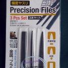 "Japan 5.5"" Long Precision Files 3 Pcs Set home use needle file set repair hobby craft tool"