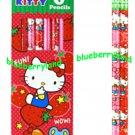 Sanrio HELLO KITTY 6 pieces HB pencils set with gift box School