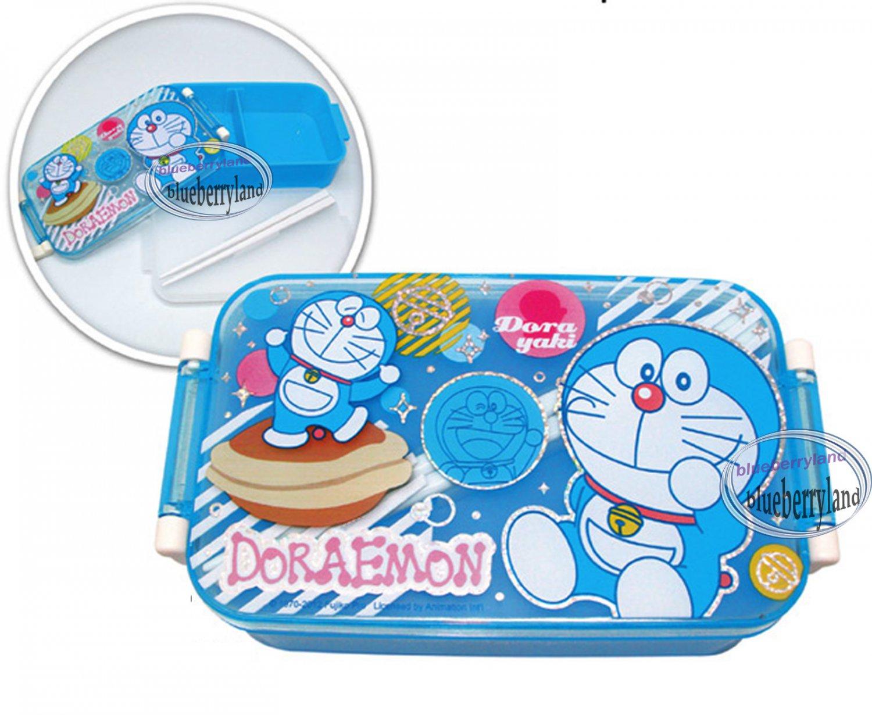 doraemon bento lunch box food container case blue. Black Bedroom Furniture Sets. Home Design Ideas