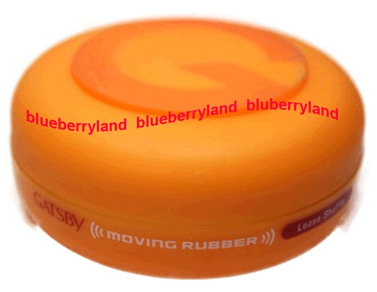 Japan Gatsby Moving Rubber Loose Shuffle Hair Wax 80g Hair Styling care