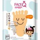 Face Q Milk Moisturizing FOOT Mask Skin care beauty ladies 2 Pcs