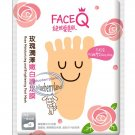 Face Q Rose Moisturizing and Brightening FOOT Mask Skin care beauty ladies 2 Pcs