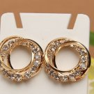 Crisscross Crystal Hoop Earrings Fashion Rhinestone Jewelry Jewellery women ladies girls