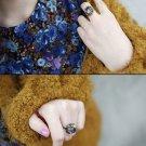 Multicolor Crystal Vintage Ring - Size Adjustable Retro Color Fashion Jewelry girl ladies women