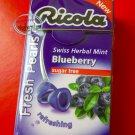Ricola Swiss Herbal Blueberry Sugar-free Mint Pearls Candy 2 packs Candies snack 2 packs sweet