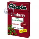 Ricola CRANBERRY Swiss Herb Lozenges Sugar free Mint Drops Candy 2 boxes Candies snack sweet