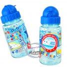 Sanrio Shinkansen Water Bottle with straw drink Container 350ml Q14