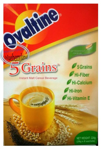 Ovaltine 5 grains Instant Malt Cereal Beverage Drink mix breakfast health 8 sachet