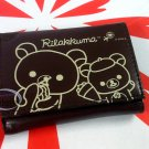San-X Rilakkuma Relax Bear Trifold Wallet purse bag B