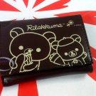 San-X Rilakkuma Relax Bear Trifold Wallet purse bag B