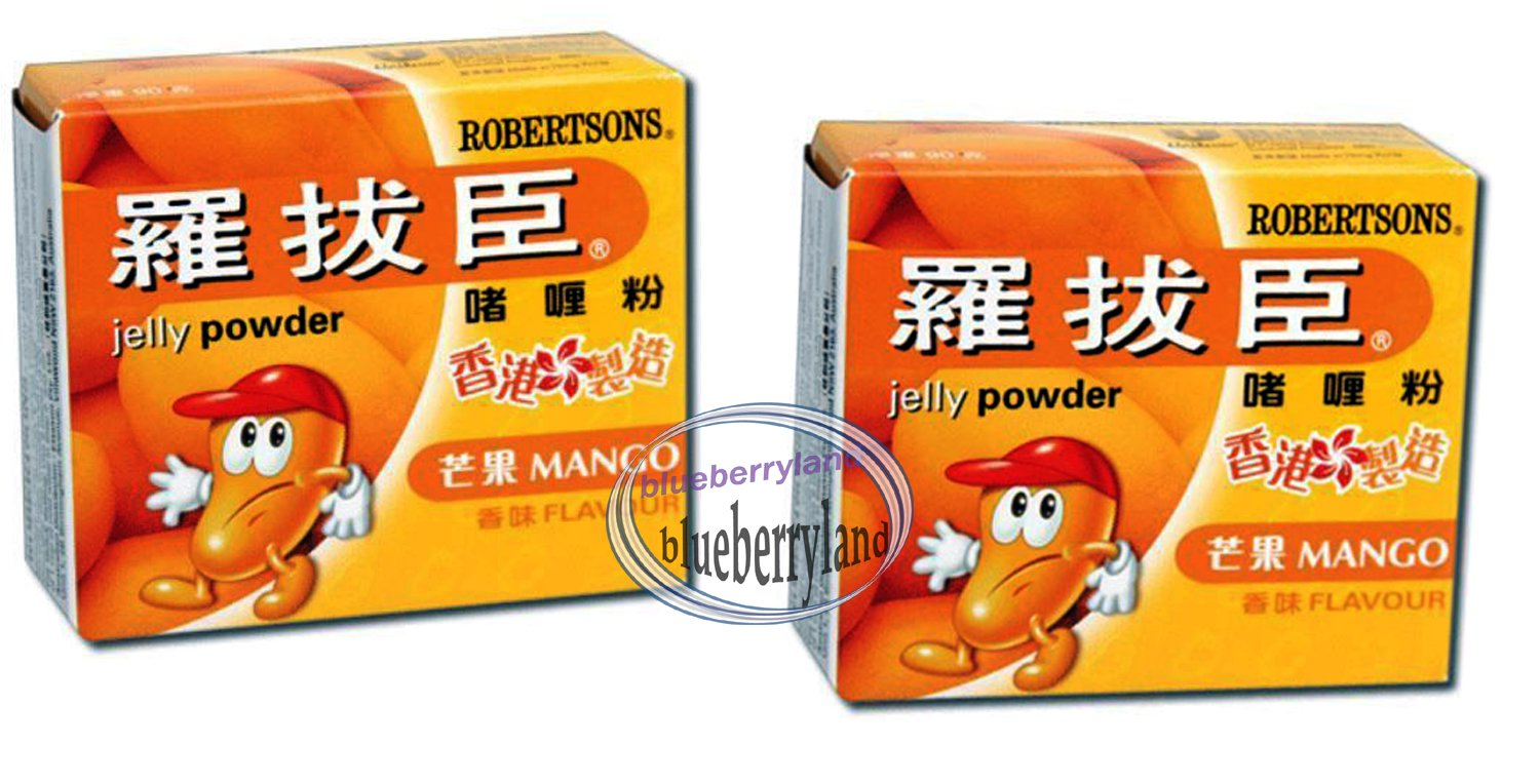 Robertsons Jelly Jello Powder MANGO Flavour 80g x2 Sweets snacks desserts