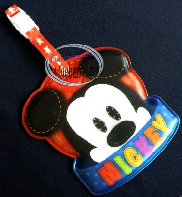 DISNEY Mickey Mouse Luggage Name Tag holder Travel school bag