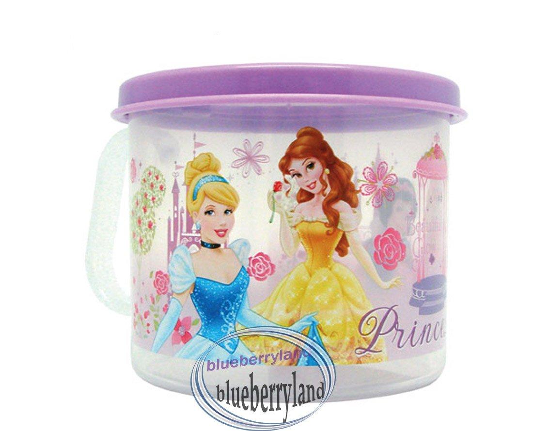 Disney Princess Plastic Cup Girl mug with lid 250ml kids child Q4