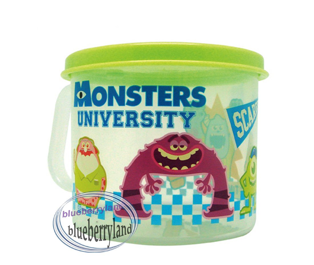 Monsters University Plastic Cup Girl mug with lid 250ml kids child Q4