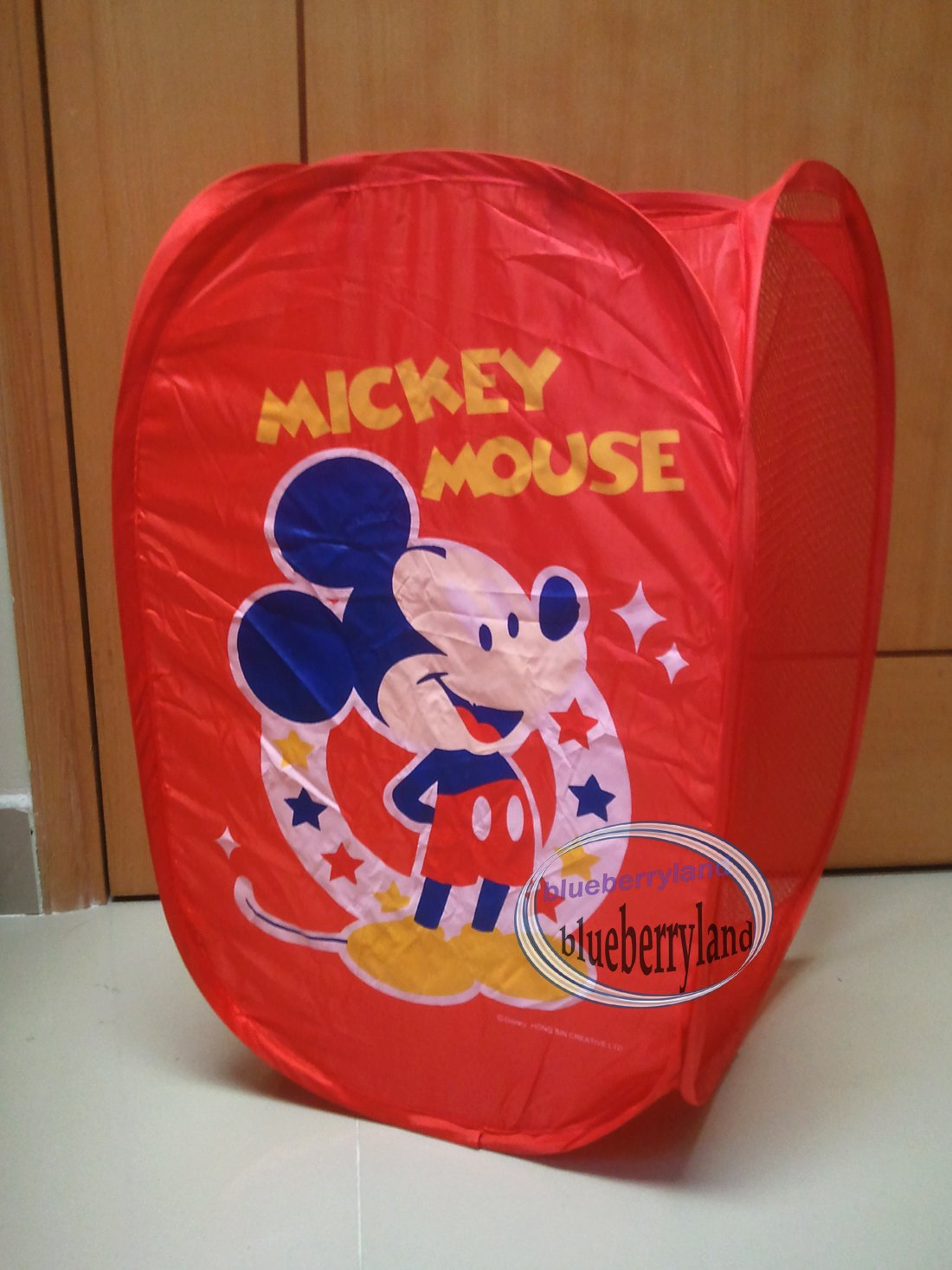 Disney Mickey Mouse Laundry Bin Bag Basket Popup Storage