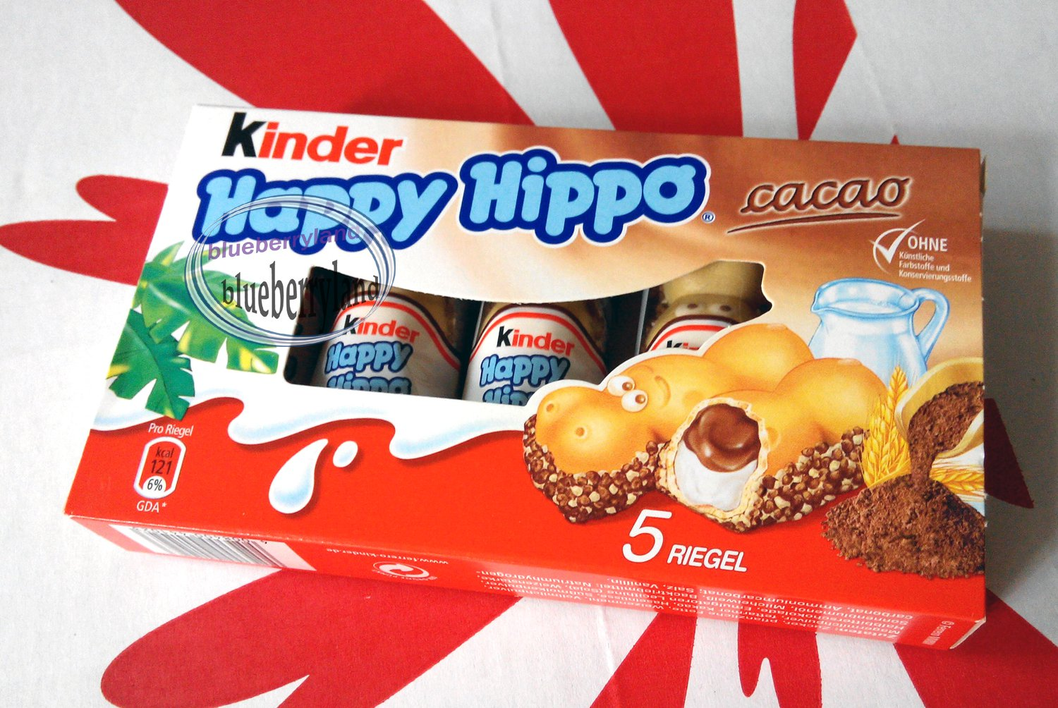 Ferrero Kinder Happy Hippo Cocoa Cream Chocolate Wafer Cookie Biscuit Pack sweet snack