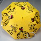 """Mr. Men and Little Miss Small Compact Tote Folding Umbrella opens 38.5"""" Yellow"""