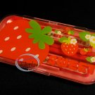 Strawberry Cutlery set Fork Spoon Chopstick case sets bento lunchbox accessories