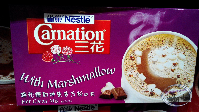 Nestle Carnation Hot Chocolate Drink mix pouch w mini marshmallow ...