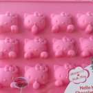 Sanrio HELLO KITTY SILICON mold Chocolate ICE jelly Mould PINK