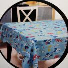 "Disney Mickey Mouse Polyster Table Cloth Square 52 x 52 "" home BLUE"