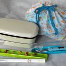 Japan Bento 2 tier Lunchbox Food Container Microwave OK 4p Lunch Box case C