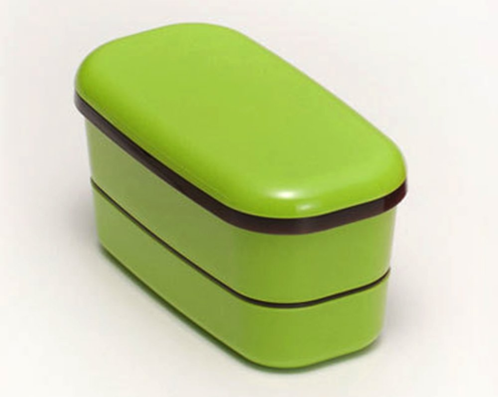 japan bento 2 tier lunchbox food container microwave ok 4p lunch box case chopstick strap bag green. Black Bedroom Furniture Sets. Home Design Ideas