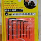 Japan 7 Pcs Hex Key Set Metric Inbus Allen Wrench MHK1 A