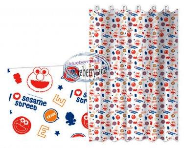 ELMO Sesame Street SHOWER CURTAIN bathroom accessories ring household Q12
