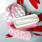 Japan Strawberry Candy Bento Lunchbox Food case 4 pc Lunch box Set
