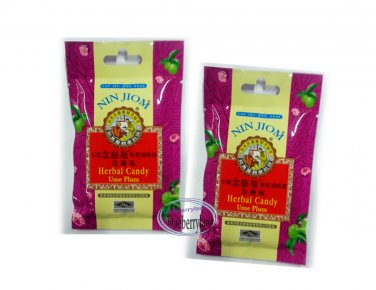 Nin Jiom Herbal Candy Ume Plum Netural Herbs candies sweets snack