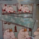MOOMIN Bedding Set Double size Duvet Cover Fitted Sheet 4pc set A