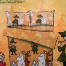 MOOMIN Bedding Set Minion Double size Duvet Cover Fitted Sheet 4pc set B