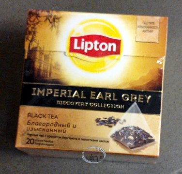 Lipton IMPERIAL Earl Grey Pyramid Luxury Black Tea Bags