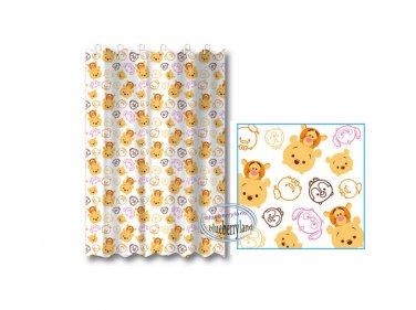 Disney TSUM TSUM Winnie the Pooh SHOWER CURTAIN bathroom accessories ring household Q16