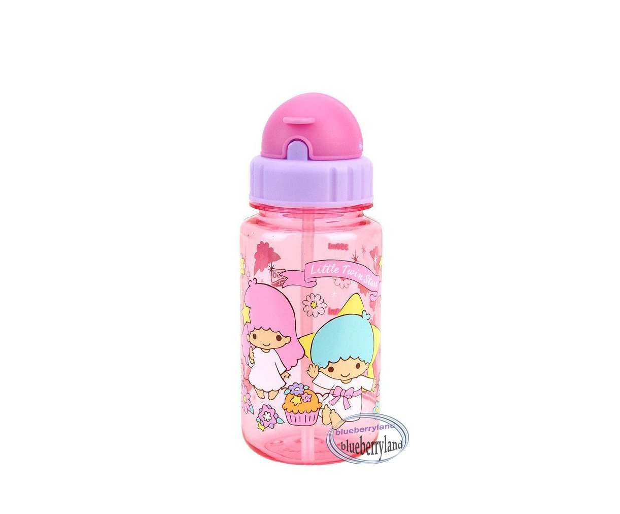 Sanrio Little Twin Stars BPA free Water Bottle 350ml with straw drink Container Q16