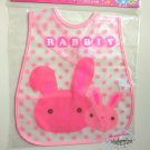 Easy Wipe Baby Bib with pouch Muslins feeding kids water resistant hook and loop fastener rabbit