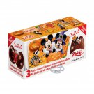 Zaini Disney Mickey Mouse Halloween Chocolate Surprise 3 Eggs With Toy Figure Inside