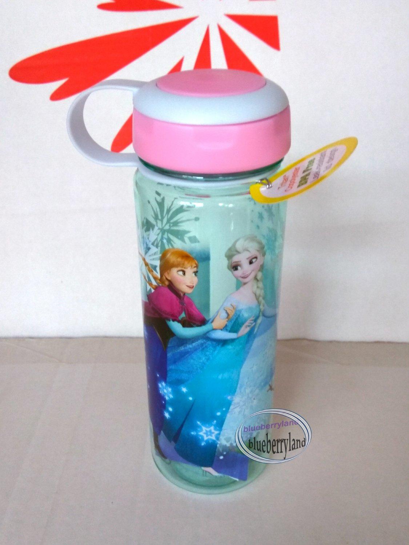 Disney FROZEN Elsa Anna Water Bottle drink Container 450ml outdoor school Q15