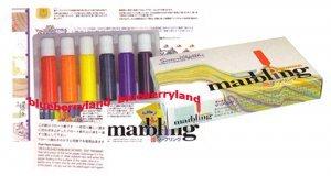Japanese 6 Colors Marbling Suminagashi Dye Ink Set Buku-undo