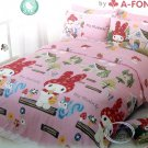 Sanrio My Melody Pink Bedding Set Double Size Fitted Sheet & pillow case ladies Kitty