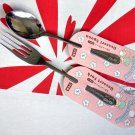 Japan Sanrio Little Twin Stars Fork & Spoon set kitchen Cutlery home