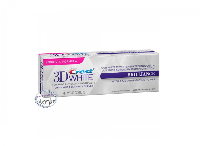 Crest 3D White Brilliance Toothpaste 116g (4.1 oz) Vibrant Peppermint Oral care