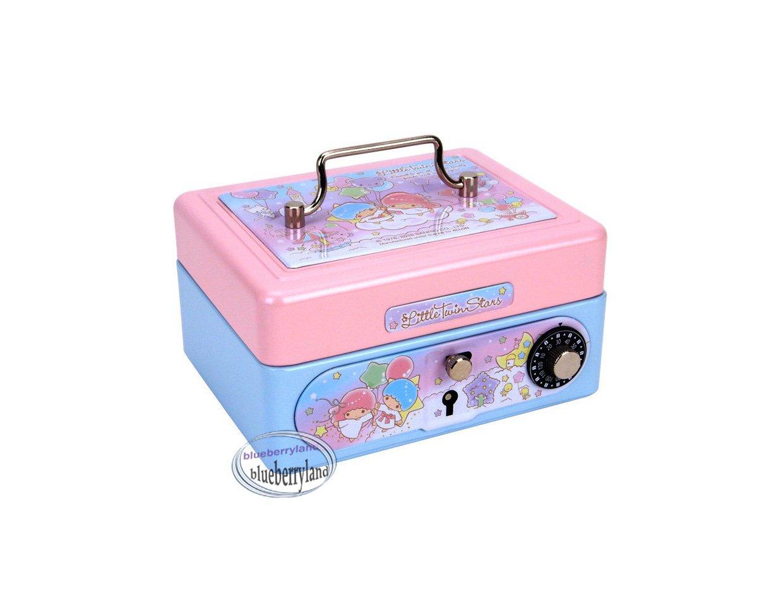 Sanrio Little Twin Stars Metal Cash Box with Dial Lock & Key xmas gift