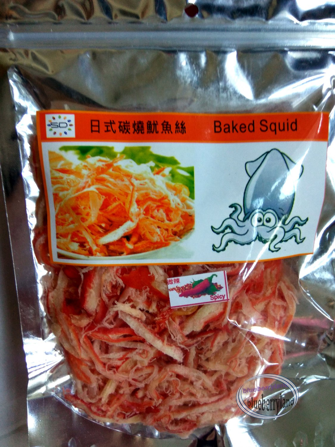 Baked Squid Spicy flavored Snack 100g kids pack party ladies food snacks