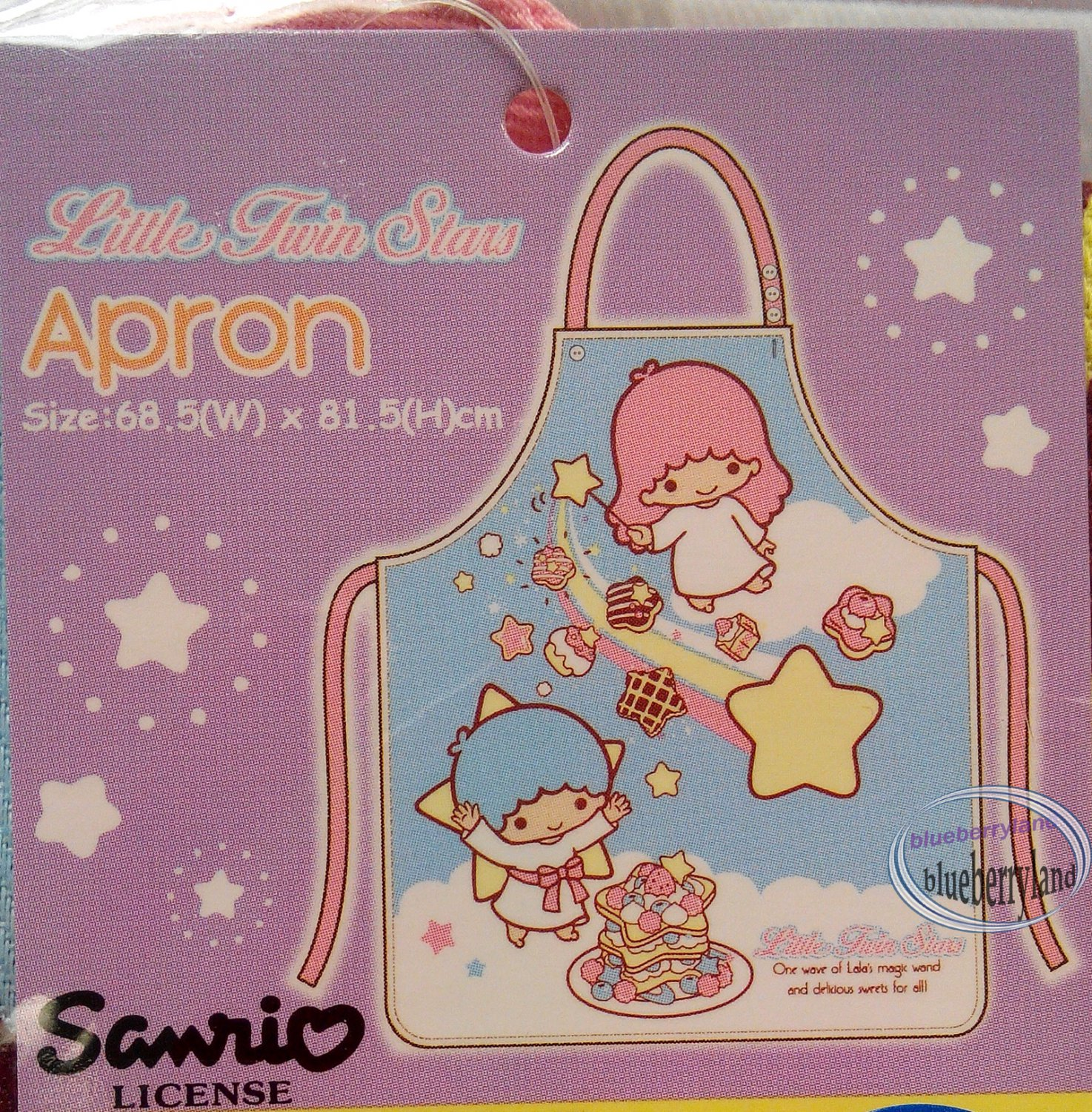 Sanrio Little Twin Stars Kitchen Apron 68.5 x 81.5cm kitchen cooking baking