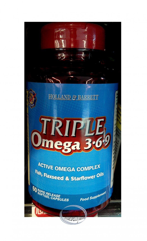 Holland & Barrett Triple Omega 369 1565mg 60 Capsules food supplement health care