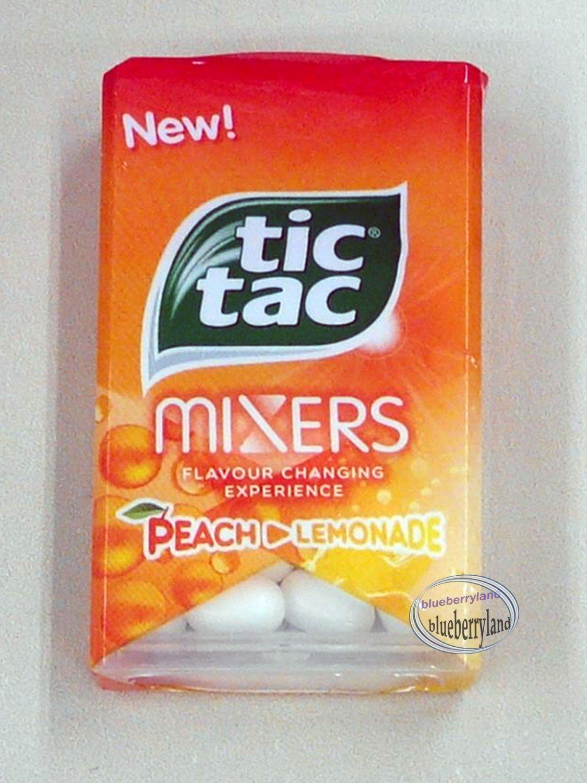 Tic Tac Mixers Peach Lemonade Flavored Candy 2 Packs
