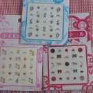 Japan Sanrio Hello Kitty Glitter Nail Art Sticker Decal girls x 3 Pcs Set A