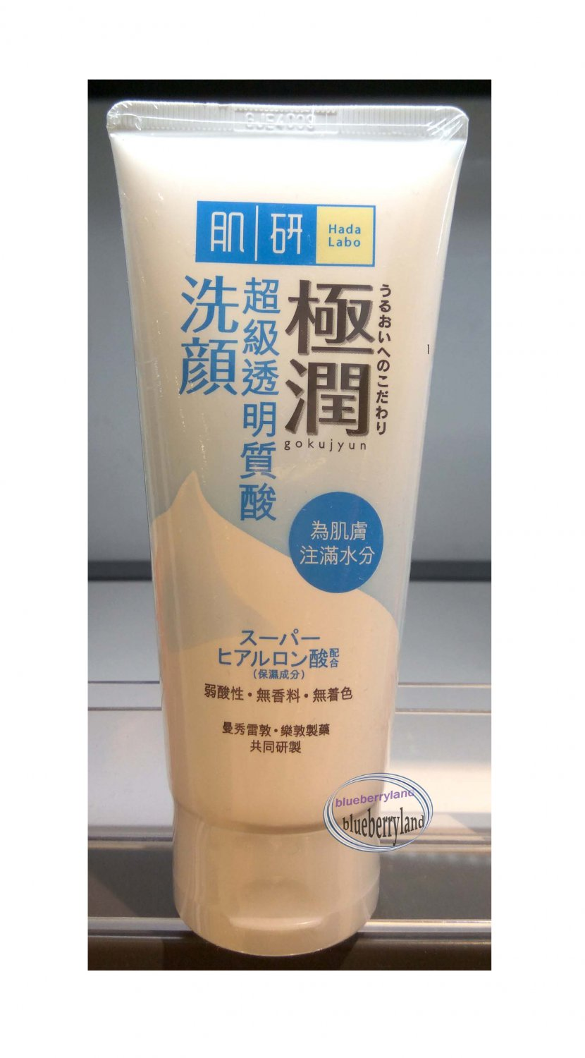 Japan Hada Labo Gokujyun Super Hyaluronic Acid Face Wash Foam 100g